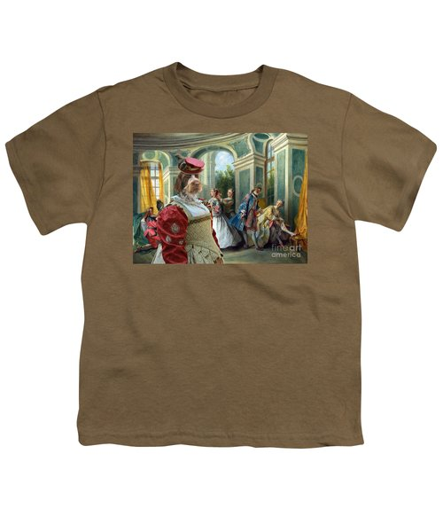 Korthals Pointing Griffon Art Canvas Print  Youth T-Shirt by Sandra Sij