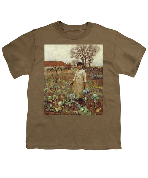A Hinds Daughter, 1883 Oil On Canvas Youth T-Shirt by Sir James Guthrie