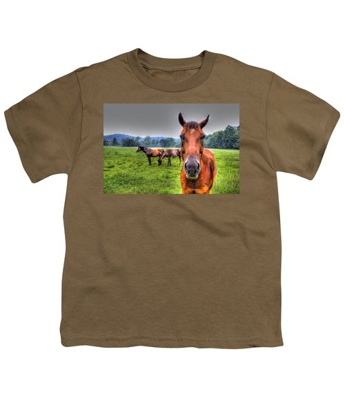 Youth T-Shirt featuring the photograph A Starring Horse by Jonny D
