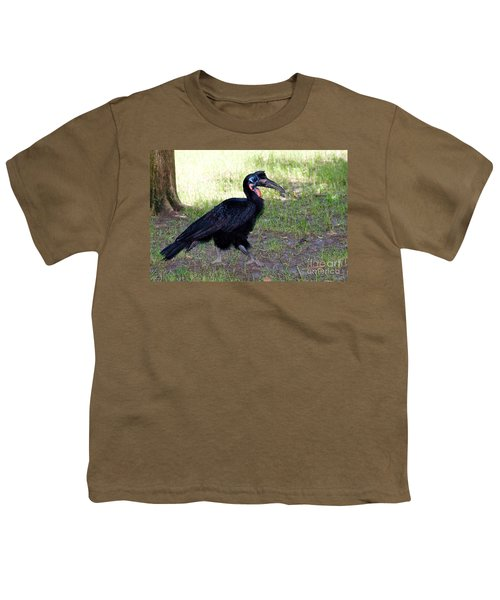 Abyssinian Ground-hornbill Youth T-Shirt by Gregory G. Dimijian