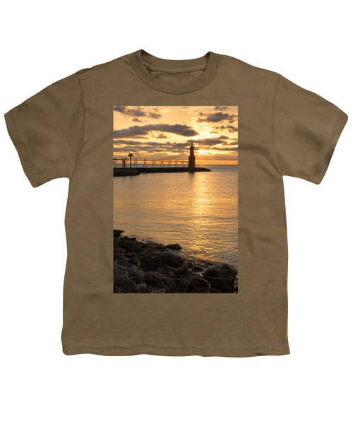 Across The Harbor Youth T-Shirt by Bill Pevlor