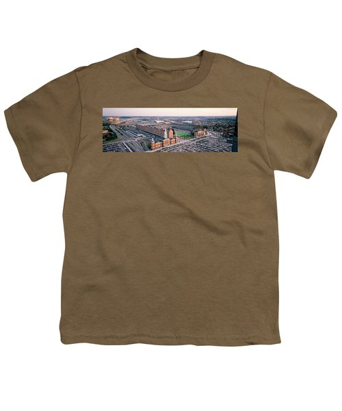 Aerial View Of A Baseball Field Youth T-Shirt