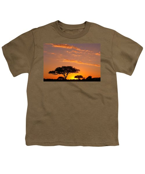 African Sunset Youth T-Shirt by Sebastian Musial