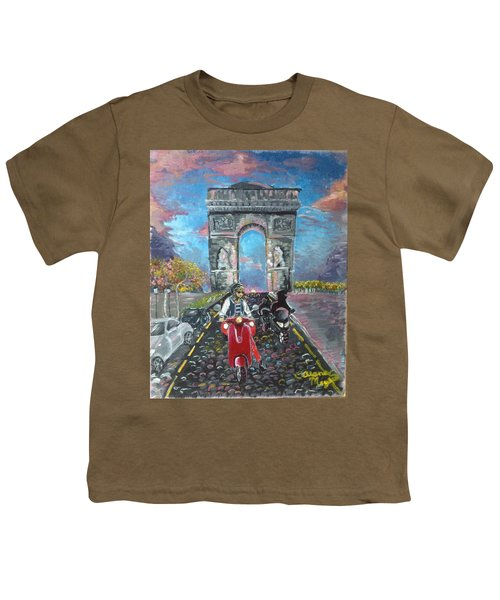 Arc De Triomphe Youth T-Shirt by Alana Meyers