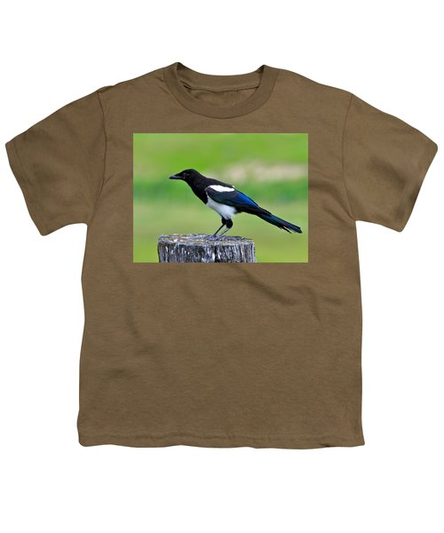 Black Billed Magpie Youth T-Shirt