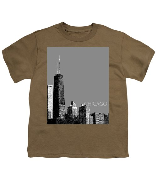 Chicago Hancock Building - Pewter Youth T-Shirt