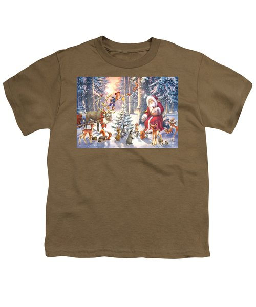 Christmas In The Forest Youth T-Shirt