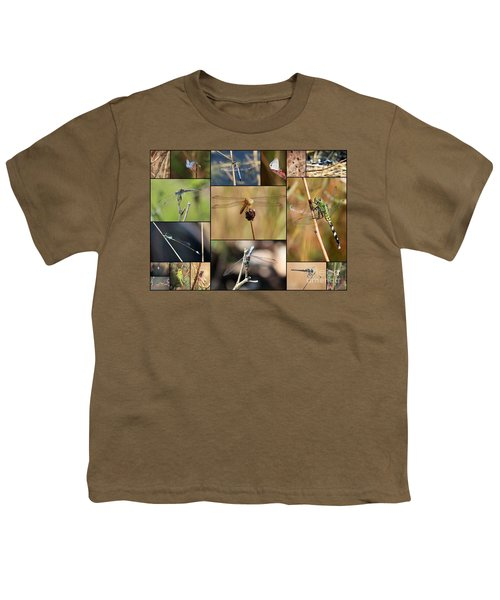 Collage Marsh Life Youth T-Shirt by Carol Groenen
