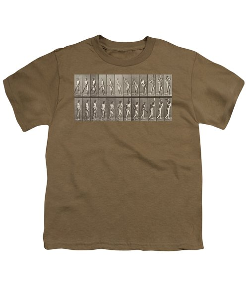 Cricketer Youth T-Shirt by Eadweard Muybridge