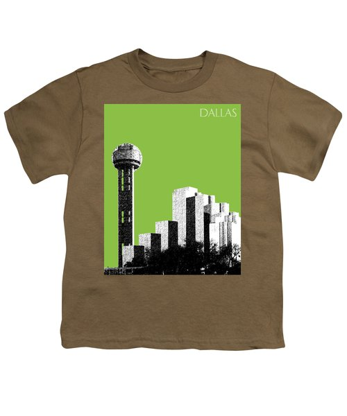 Dallas Skyline Reunion Tower - Olive Youth T-Shirt