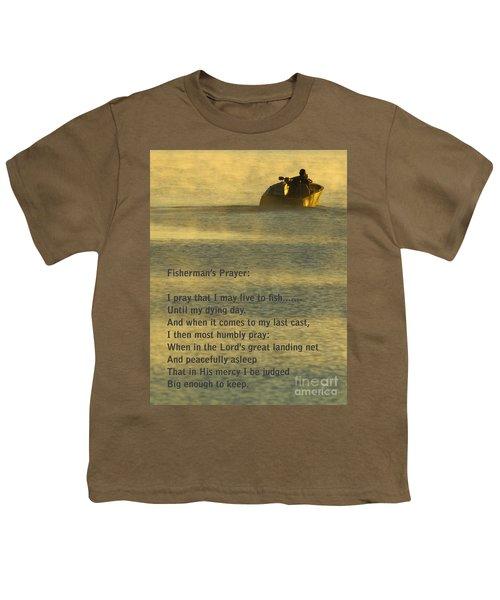 Fisherman's Prayer Youth T-Shirt by Robert Frederick