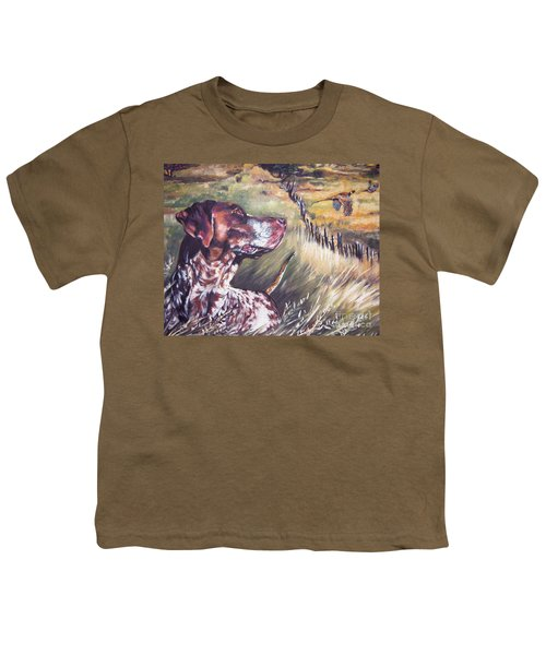 German Shorthaired Pointer And Pheasants Youth T-Shirt