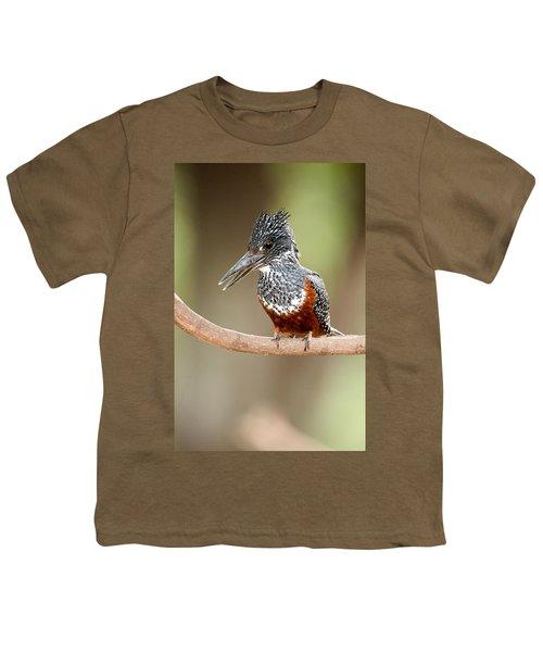 Giant Kingfisher Megaceryle Maxima Youth T-Shirt by Panoramic Images