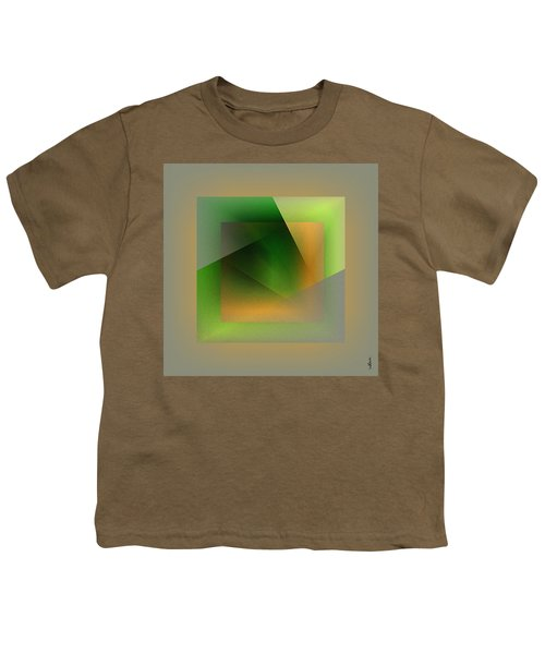 Youth T-Shirt featuring the digital art Green Color Wrap by Mihaela Stancu