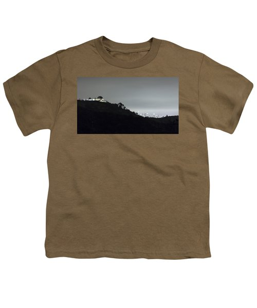 Griffith Park Observatory And Los Angeles Skyline At Night Youth T-Shirt