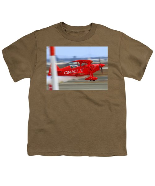 Hi Speed Low Pass By Sean Tucker At Salinas Ksns Air Show Youth T-Shirt