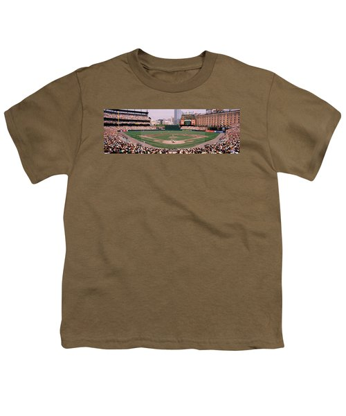 High Angle View Of A Baseball Field Youth T-Shirt