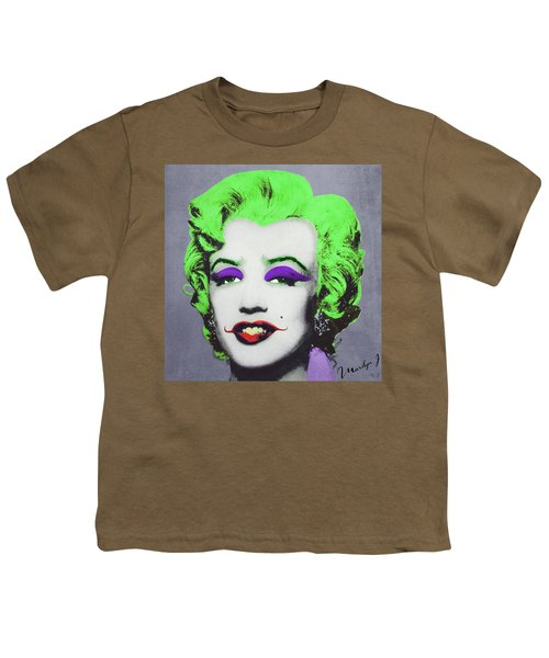 Joker Marilyn Youth T-Shirt by Filippo B