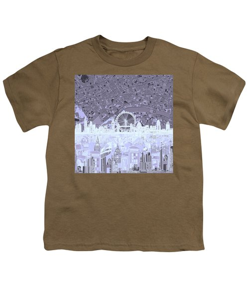 London Skyline Abstract 10 Youth T-Shirt