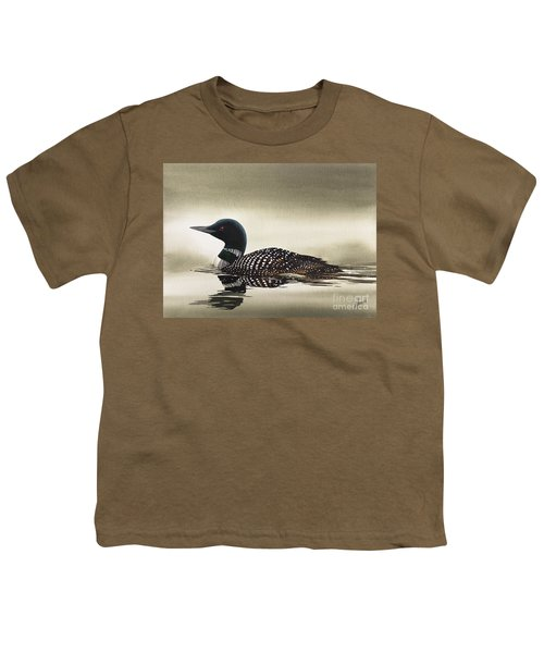Loon In Still Waters Youth T-Shirt by James Williamson