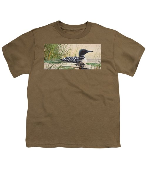 Loon's Tranquil Shore Youth T-Shirt
