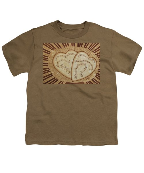 Youth T-Shirt featuring the painting Love Song Of Our Hearts by Georgeta Blanaru