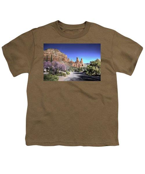 Mushroom Rock Youth T-Shirt by Lynn Geoffroy
