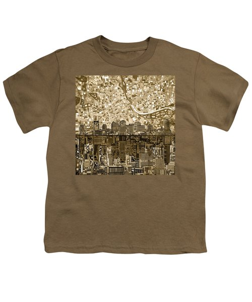Nashville Skyline Abstract 6 Youth T-Shirt
