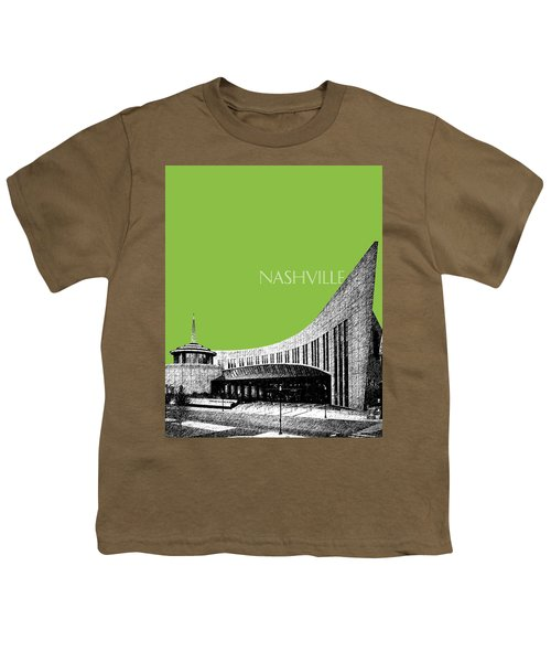 Nashville Skyline Country Music Hall Of Fame - Olive Youth T-Shirt