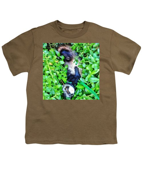 Nicky Ferret On A Garden Walk Youth T-Shirt