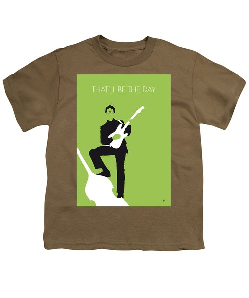 No056 My Buddy Holly Minimal Music Poster Youth T-Shirt