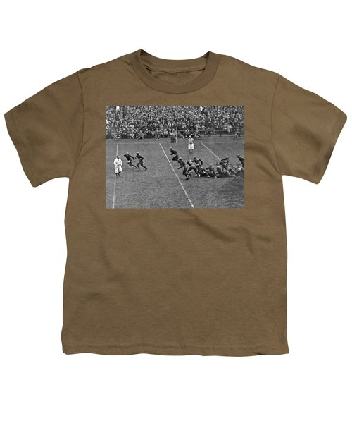 Notre Dame Versus Army Game Youth T-Shirt by Underwood Archives