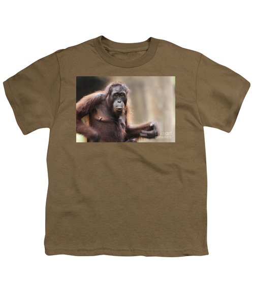Orangutan Youth T-Shirt by Richard Garvey-Williams