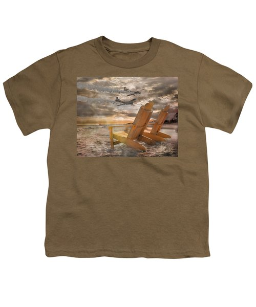 Pairs Along The Coast Youth T-Shirt by Betsy Knapp