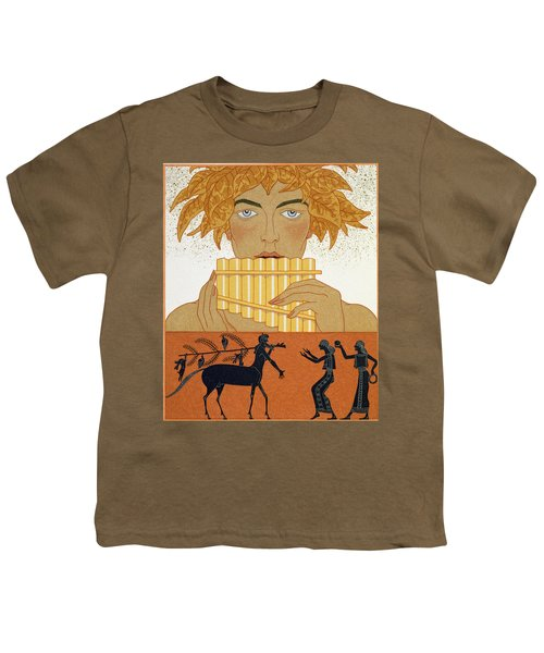 Pan Piper Youth T-Shirt by Georges Barbier