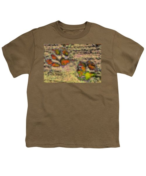 Paw Prints Like Butterflies Muted Youth T-Shirt