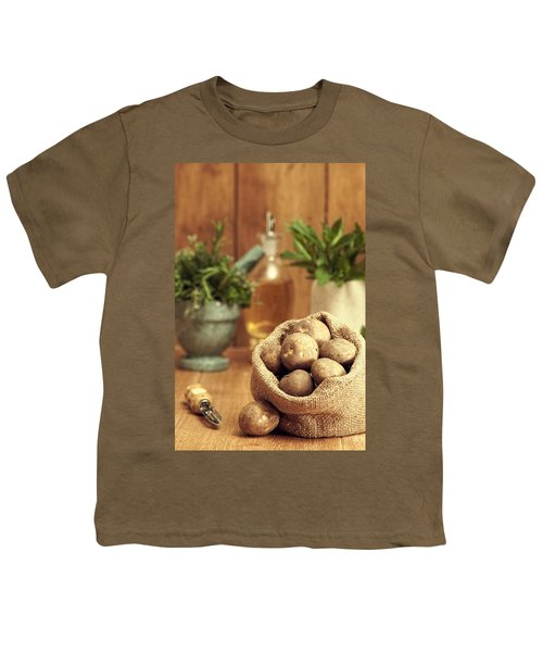 Potatoes Youth T-Shirt by Amanda Elwell