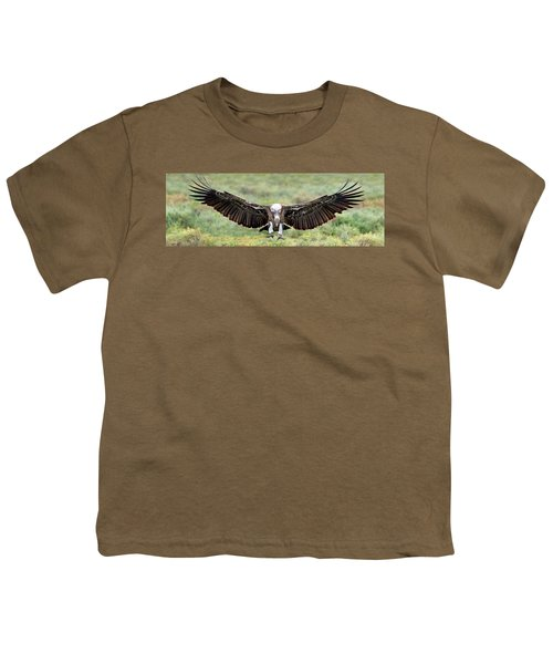Ruppells Griffon Vulture Gyps Youth T-Shirt by Panoramic Images