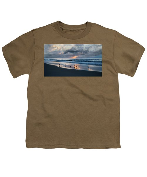 Sandpipers In Paradise Youth T-Shirt by Betsy Knapp