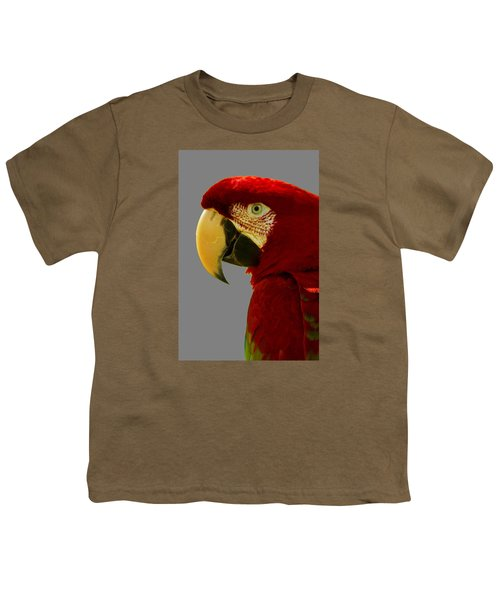 Youth T-Shirt featuring the photograph Scarlet Macaw by Bill Barber