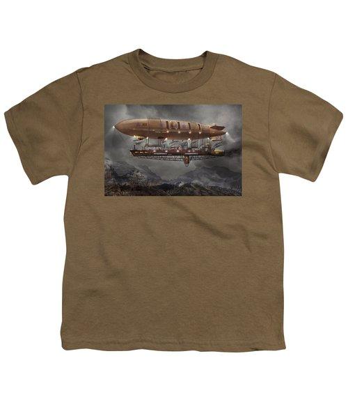 Steampunk - Blimp - Airship Maximus  Youth T-Shirt