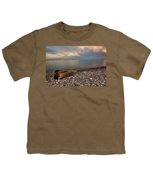 Stone Beach Youth T-Shirt by James Dean