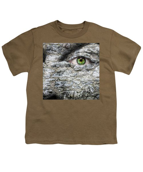 Stone Face Youth T-Shirt by Semmick Photo