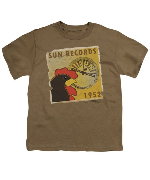 Sun - Distrsd Rooster Poster 1952 Youth T-Shirt