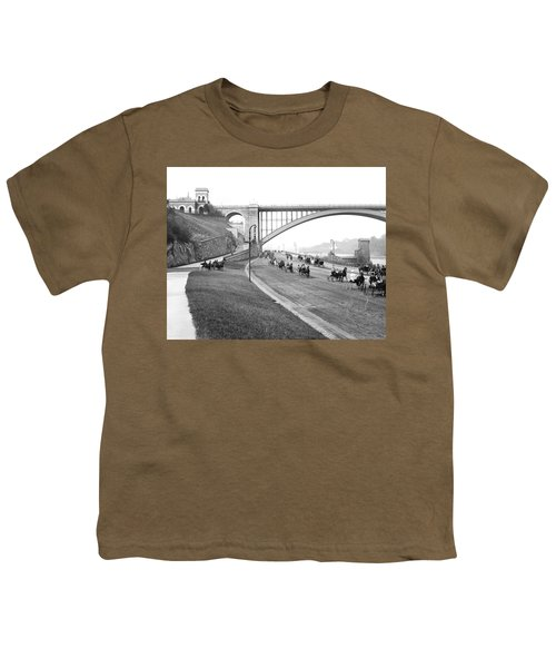 The Harlem River Speedway Youth T-Shirt by Detroit Publishing Company