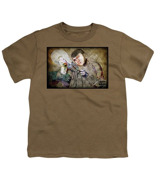 Youth T-Shirt featuring the photograph Thomas Alva Edison by Gary Keesler