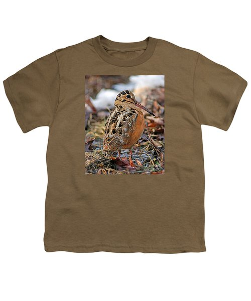 Timberdoodle The American Woodcock Youth T-Shirt by Timothy Flanigan