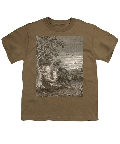 Tithonus, Auroras Husband, Turned Into A Grasshopper Youth T-Shirt by Bernard Picart