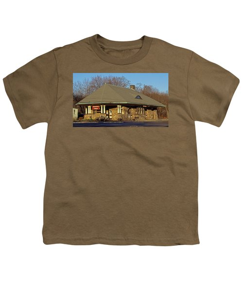 Train Stations And Libraries Youth T-Shirt by Skip Willits