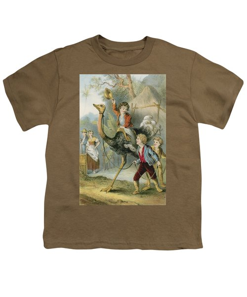 Training The Ostrich Youth T-Shirt